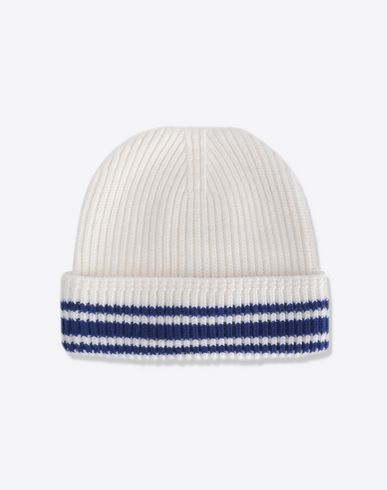 MAISON MARGIELA Stitch and stripe wool beanie Hat Man f