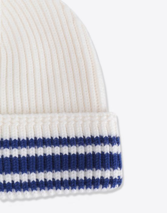 MAISON MARGIELA Stitch and stripe wool beanie Hat [*** pickupInStoreShippingNotGuaranteed_info ***] d