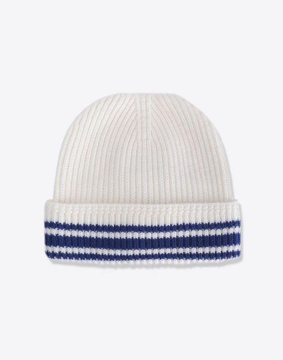 MAISON MARGIELA Stitch and stripe wool beanie Hat [*** pickupInStoreShippingNotGuaranteed_info ***] f