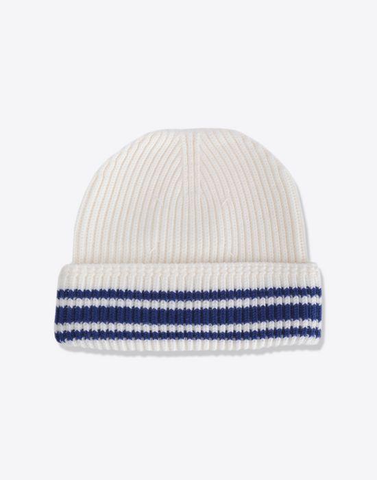 MAISON MARGIELA Stitch and stripe wool beanie Hat [*** pickupInStoreShippingNotGuaranteed_info ***] r