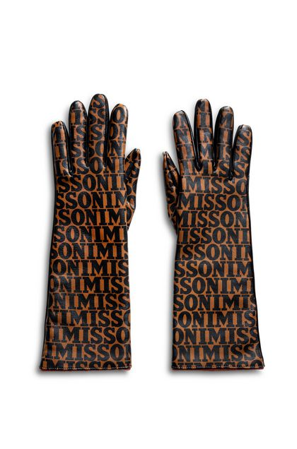 MISSONI Gloves Brick red Woman - Back