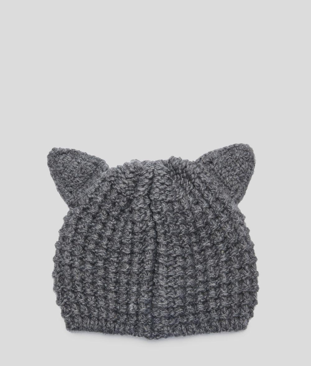 KARL LAGERFELD Choupette Luxury Beanie Hat Hat Woman d