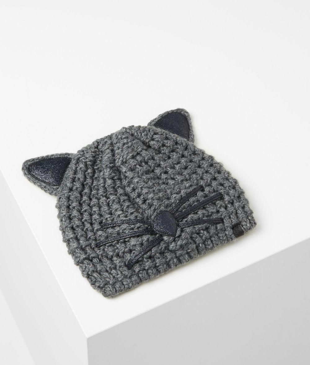 KARL LAGERFELD Choupette Luxury Beanie Hat Hat Woman f