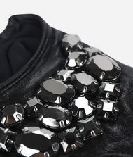 KARL LAGERFELD Leather Gloves with Stones 9_f