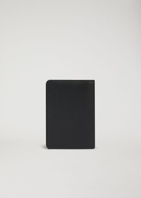Printed and boarded leather passport holder