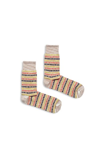 MISSONI Socks Pastel pink Man - Back