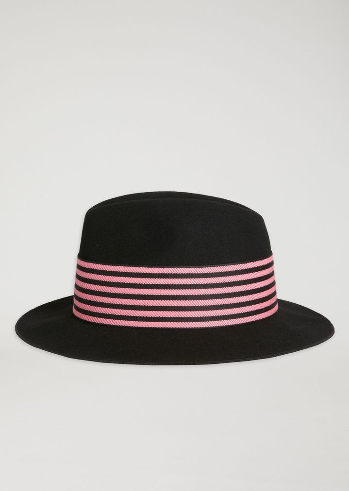 663f44fa92d Wool fedora hat with two-tone band