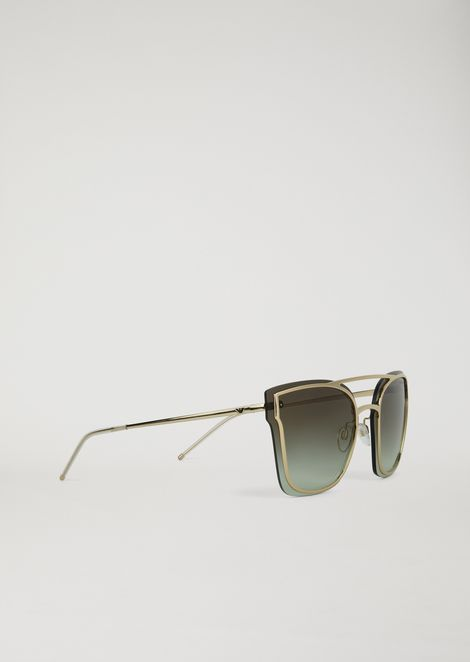d58824a764 Avant-garde metal sunglasses with graduated lenses