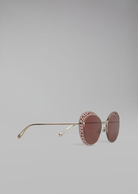 Cat Walk Open Lenses glasses with crystals dacbe21e33