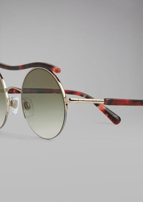 Cat Walk Open Lenses glasses with wavy tubular detail