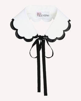 REDValentino Collar in Cotton Poplin with scallop detail