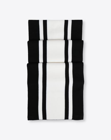 MAISON MARGIELA Knit and stripe wool scarf Scarf Man f