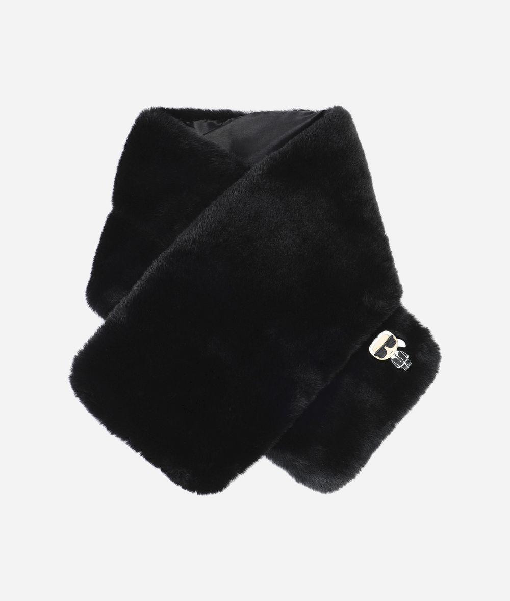 KARL LAGERFELD K/Ikonik Faux Fur Scarf Scarf Woman f