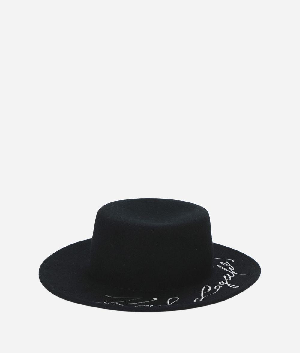 KARL LAGERFELD K/Signature Wool Hat  Hat Woman f