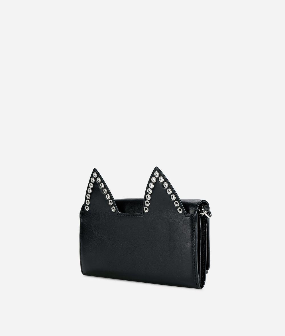 KARL LAGERFELD K/Rocky Choupette Leather Chain Wallet Wallet Woman d
