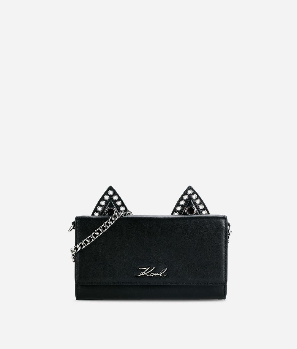 KARL LAGERFELD K/Rocky Choupette Leather Chain Wallet Wallet Woman f