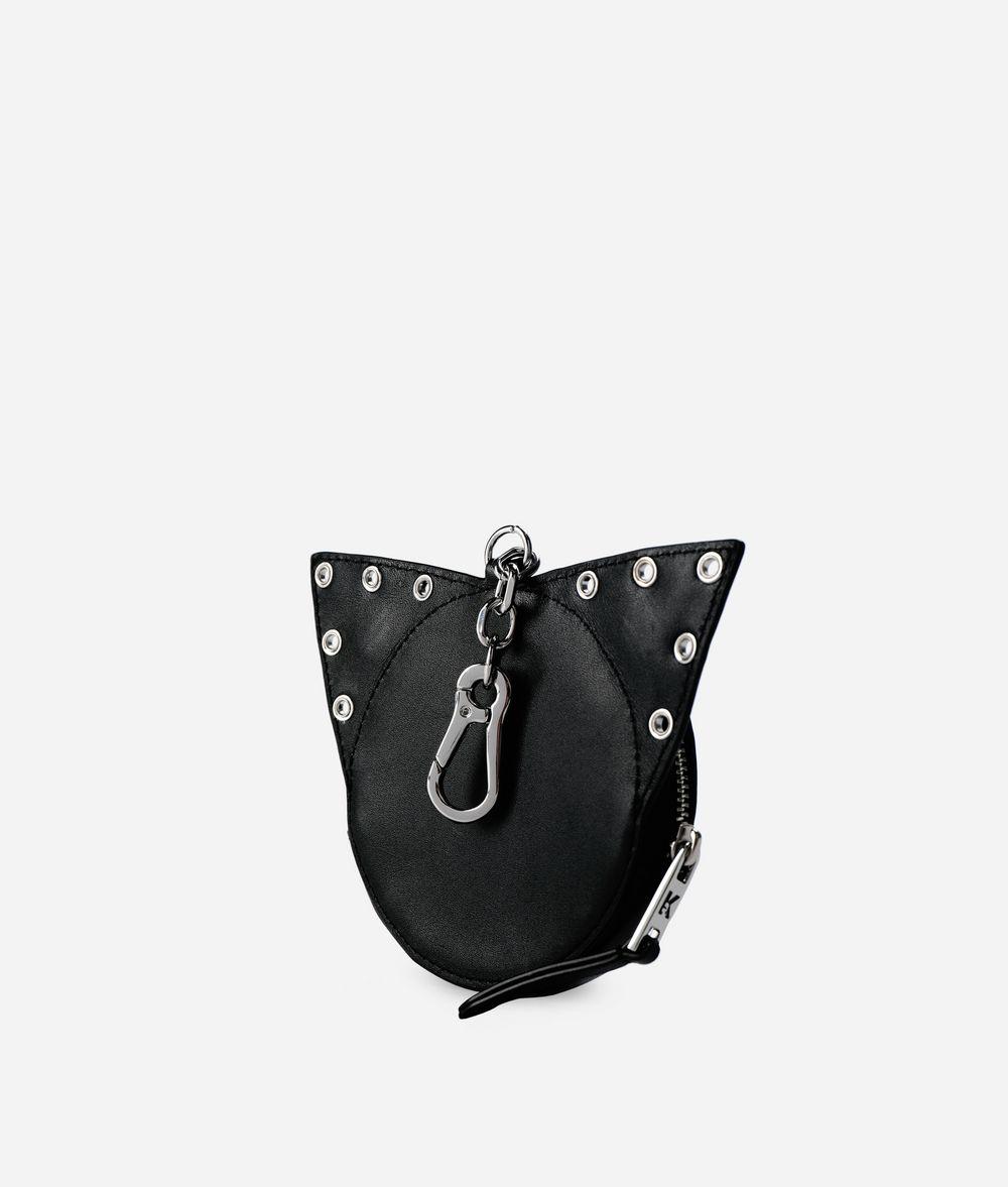 KARL LAGERFELD K/Rocky Choupette Leather Coin Purse Wallet Woman d