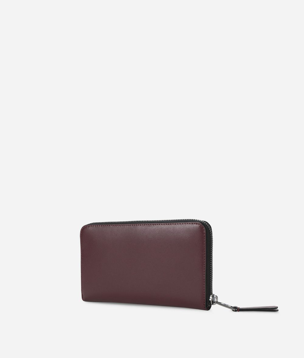 KARL LAGERFELD K/Signature Leather Zip Around Wallet Wallet Woman d