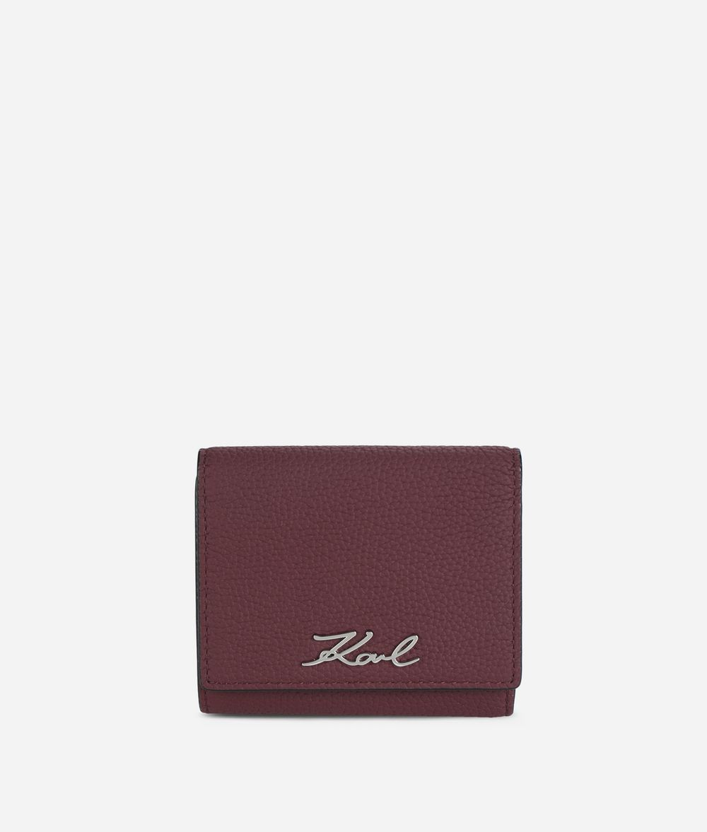 KARL LAGERFELD K/Karry All Leather Fold Wallet Wallet Woman f