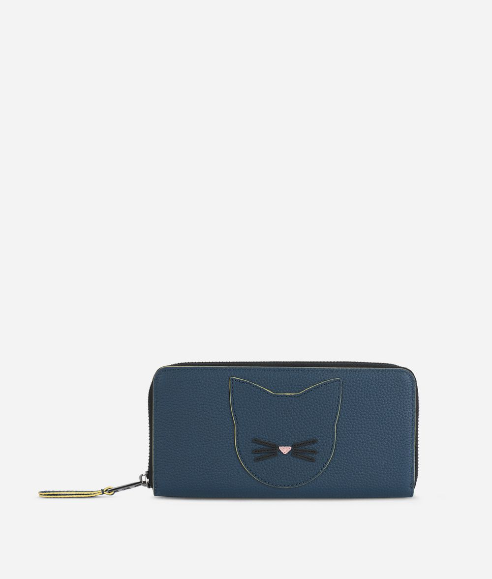 KARL LAGERFELD K/Karry All Leather Zipper Around Wallet Wallet Woman f