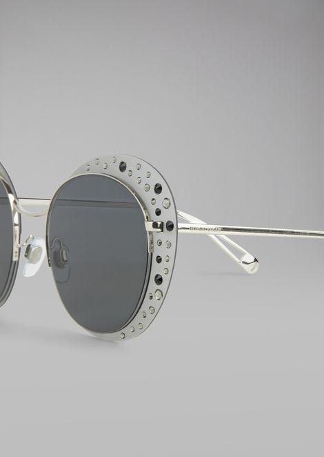 Очки Cat Walk Open Lenses с кристаллами