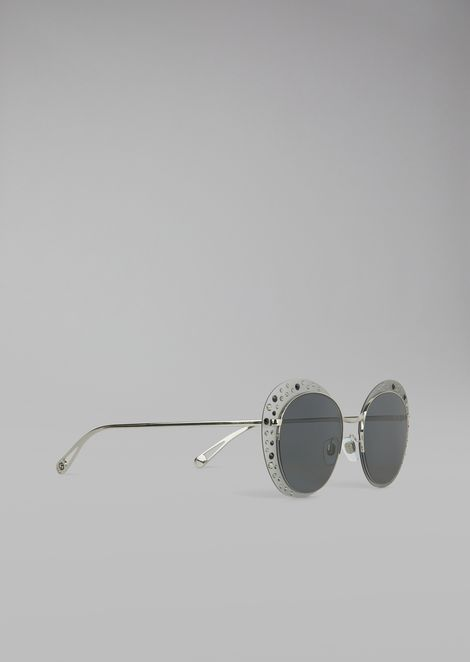 Cat Walk Open Lenses glasses with crystals