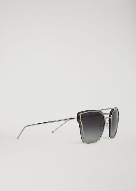 804ec3f2bd2 Avant-garde metal sunglasses with graduated lenses