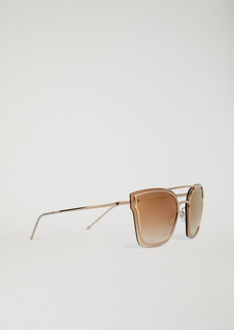 Avant-garde metal sunglasses with graduated lenses