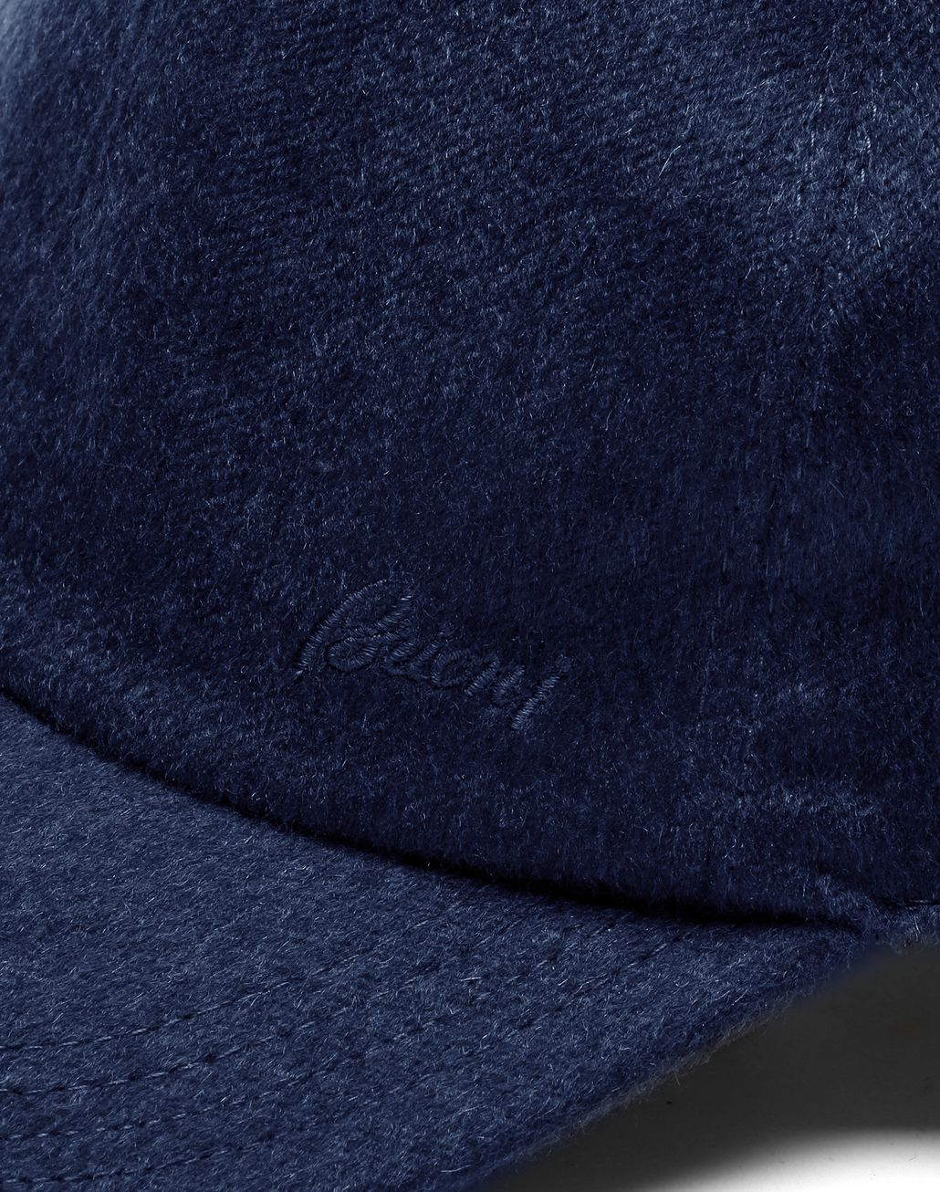 BRIONI Navy Blue Baseball Hat Hats & Gloves Man d