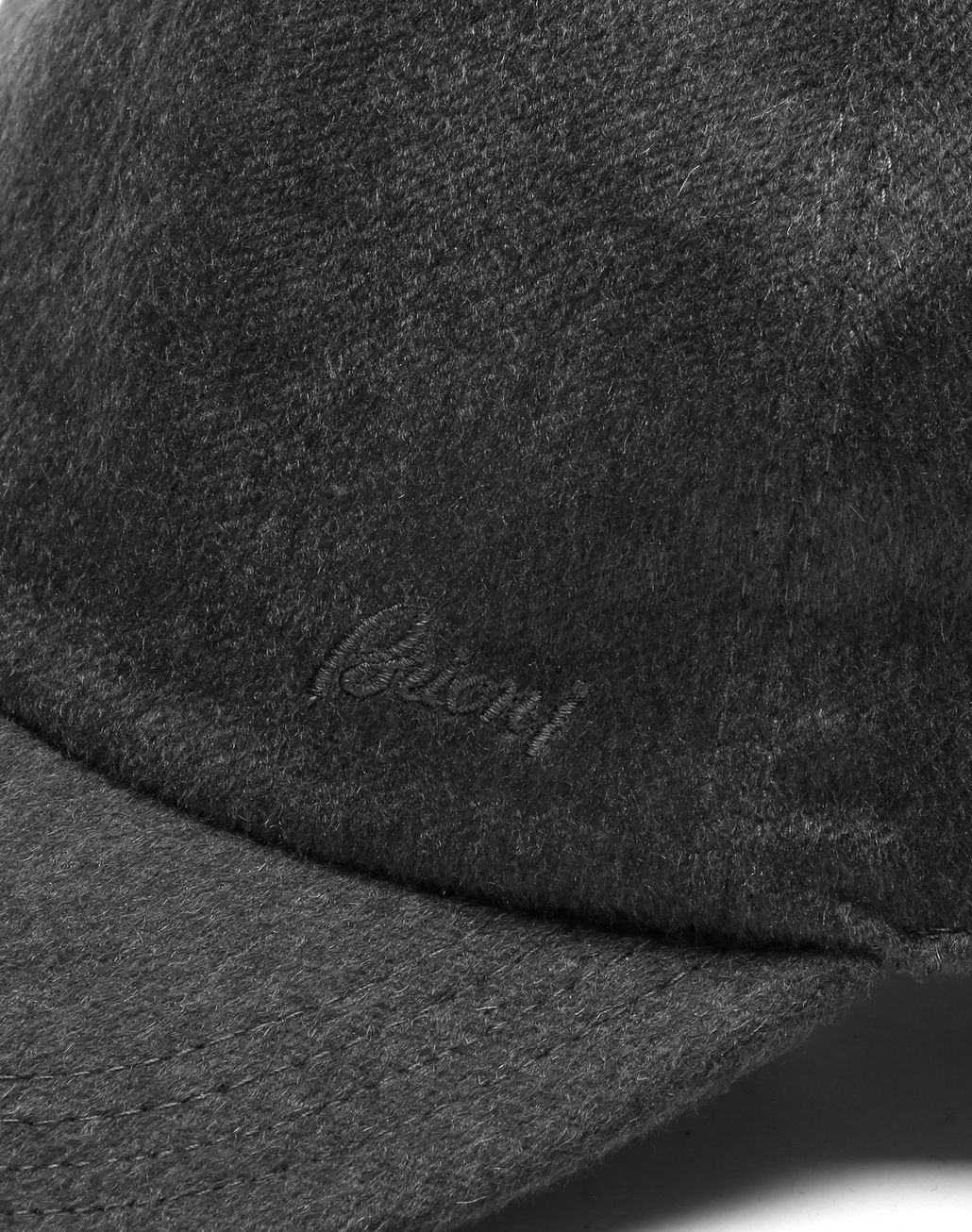 BRIONI Grey Baseball Hat Hats & Gloves Man d