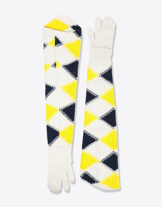 MAISON MARGIELA Oversized 'Tabi' long knit muffs Muff [*** pickupInStoreShipping_info ***] f