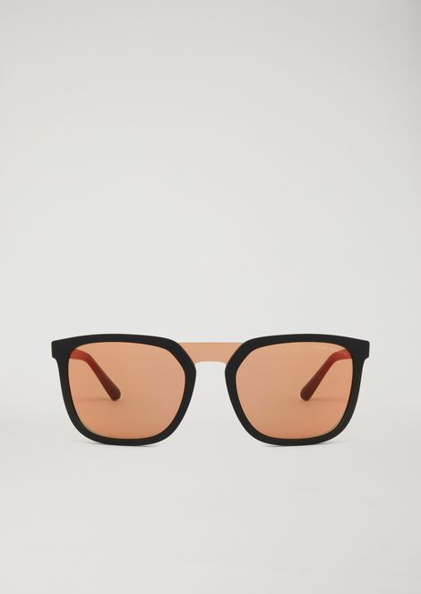 Rubber Eagle sunglasses with nylon fibre details