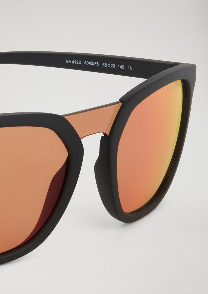 ea6b91b544259 ... Man · Sunglasses  Rubber Eagle sunglasses with nylon fibre details. EMPORIO  ARMANI