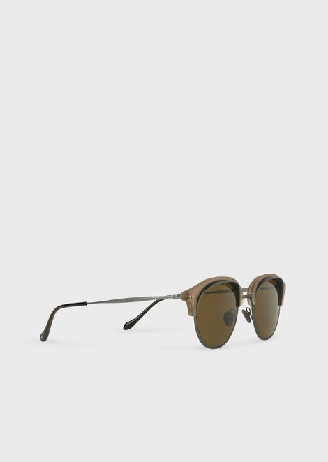 Catwalk sunglasses with two-tone fram