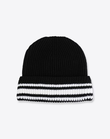 MAISON MARGIELA Hat [*** pickupInStoreShippingNotGuaranteed_info ***] Stitch and stripe wool beanie f