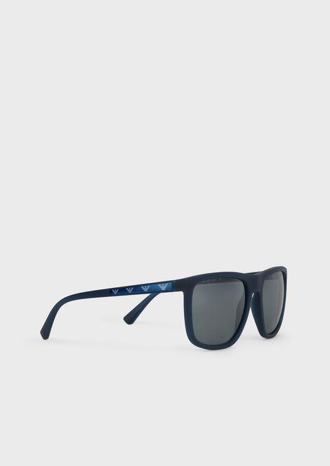 Eagle Mania nylon fibre sunglasses with logo plaque