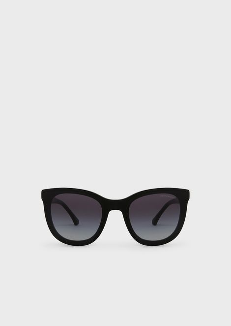 Transparency lens square acetate sunglasses