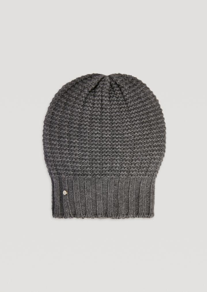 Bonnet en maille ouvragée de laine et cachemire   Femme   Emporio Armani 31bf46ef4cc