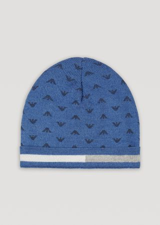 58faecfd97c Jacquard knit hat with all-over logo