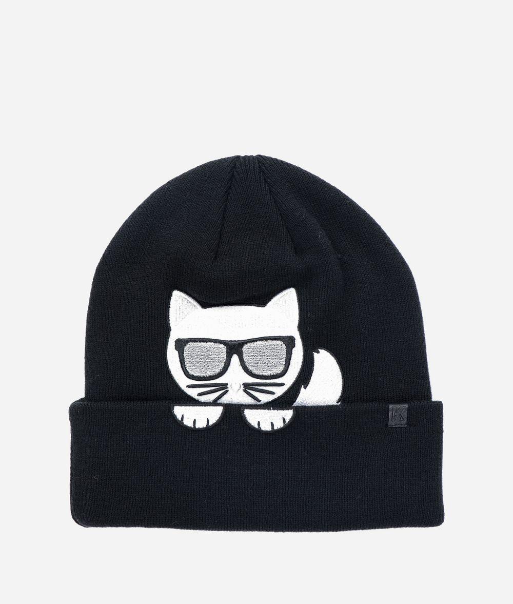 KARL LAGERFELD K/Ikonik Choupette Beanie Hat Hat Woman f