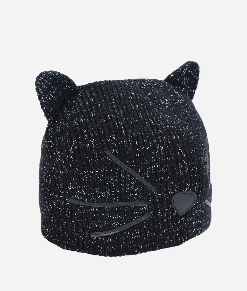 KARL LAGERFELD Choupette Metallic Beanie Hat Hat Woman f