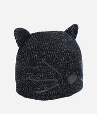 KARL LAGERFELD Choupette Metallic Beanie Hat 9_f