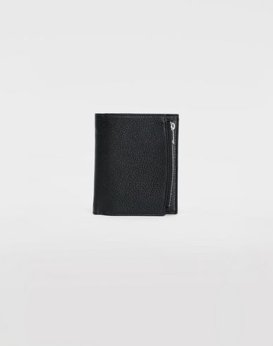 Large double fold leather wallet