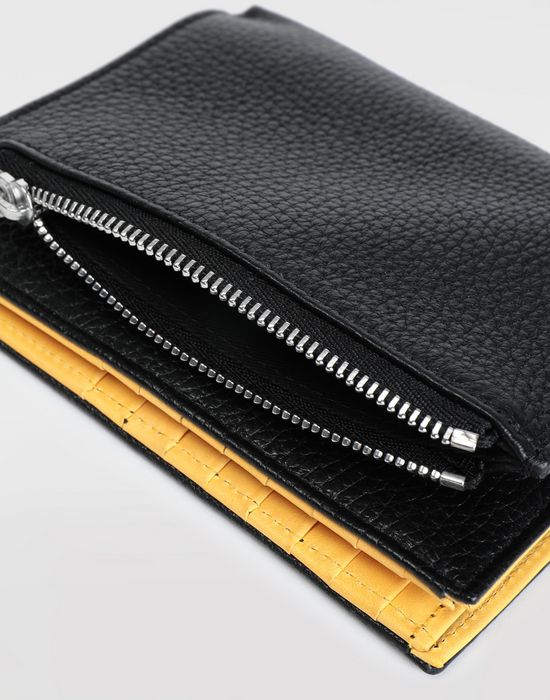 MAISON MARGIELA Large double fold leather wallet Wallets [*** pickupInStoreShippingNotGuaranteed_info ***] a