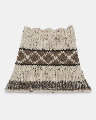 ISABEL MARANT SCARF E ESTIL graphic collar d