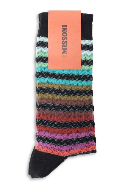MISSONI Short socks Green Man - Front