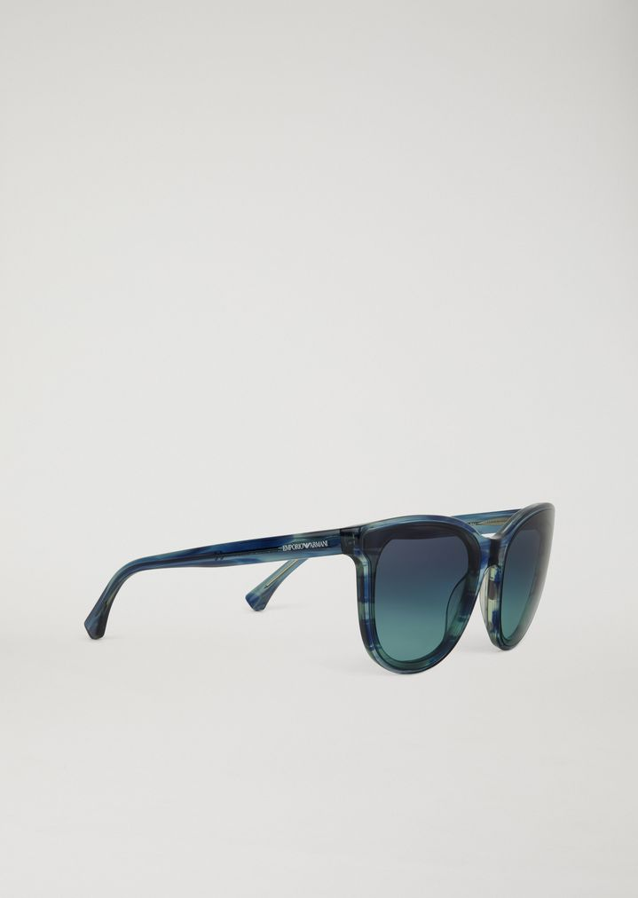 fdb0d12d37f3 Square-frame sunglasses with watercolour effect