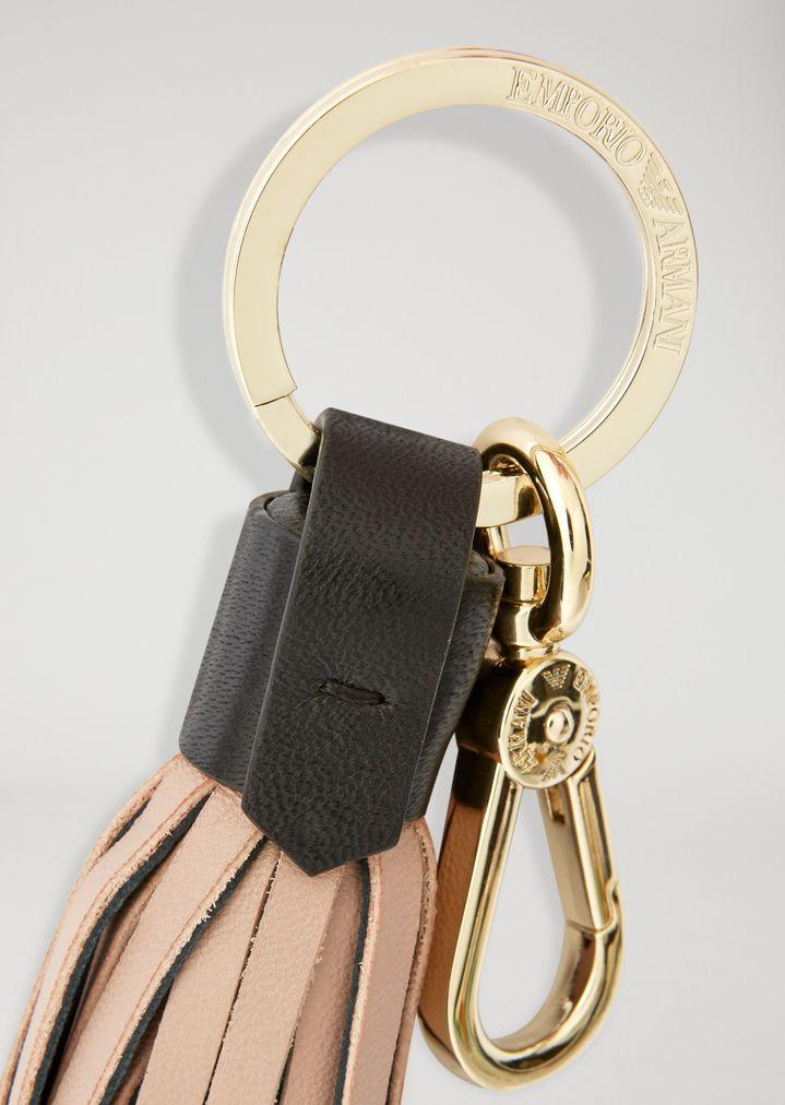 EMPORIO ARMANI Leather Keychain Woman d 43ffc18c5419f