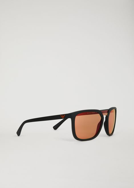 Rubber Eagle sunglasses with nylon fibre details