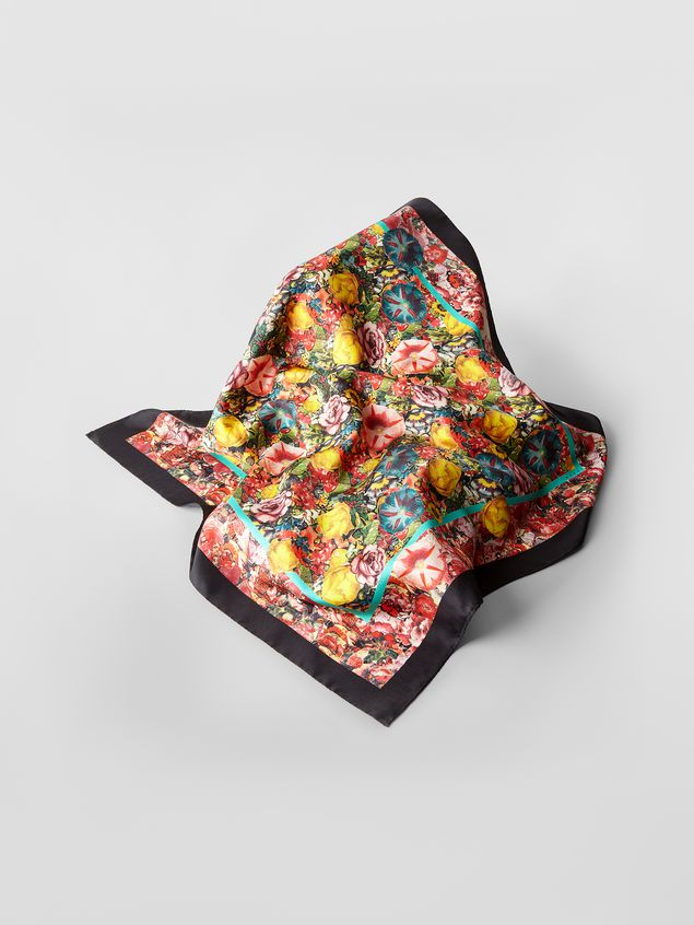 Marni Silk scarf with Ellebore print Woman - 1
